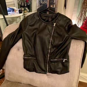 ZARA black leather jacket: XS - great condition!